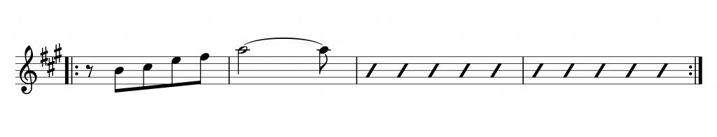 Saxophonunterricht bickenbach, ungerade Taktarten