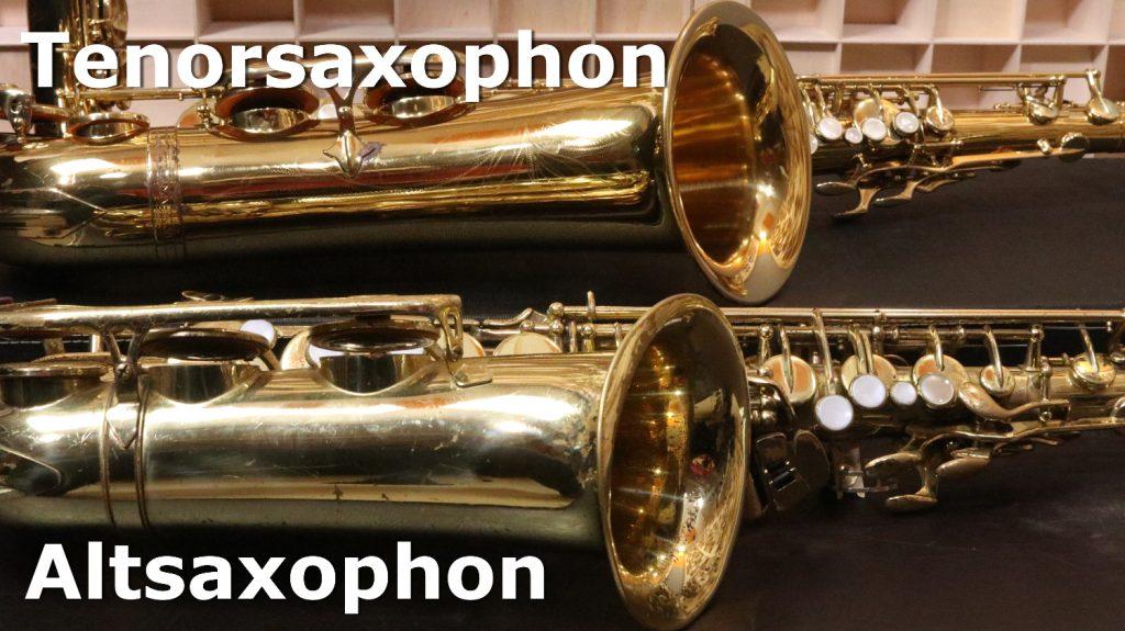 Tenor und Altsaxophon